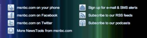 msnbc social media sign-ups