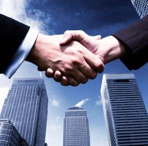 investor relations handshake